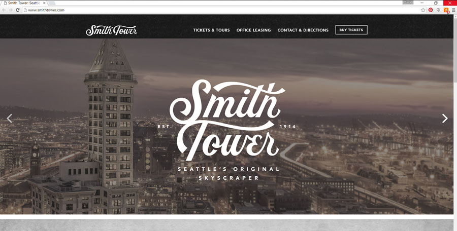 Smith Tower New Logo and Website | Virginia Calvin | Seattle Real Estate